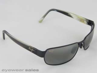 Maui Jim Sunglasses BLACK CORAL Matte Black, Neutral Grey 249 2M NEW