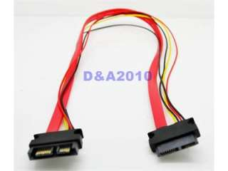 SATA Cable 13pin (7+6pin) male to Female extension Power combo cable