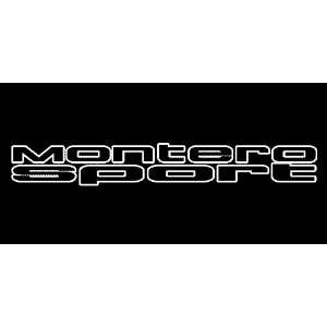 Mitsubishi Montero Sport Outline Windshield Vinyl Banner Decal 36 x