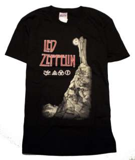 Zeppelin Zoso Wizard Reaper Guy T Shirt Size Medium M (38 40) on Hanes