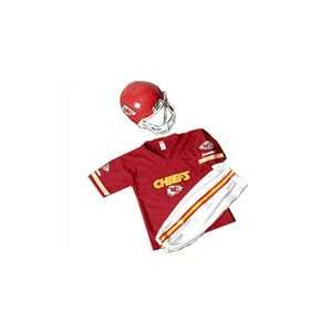 Kansas City Chiefs Youth NFL Team Helmet and Uniform Set by Franklin