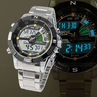 WEIDE New Mens Analog Digital LCD Date Day Alarm LED Backlight Sport