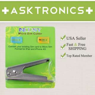 IPHONE 4S GENUINE NOOSY MICRO SIM CARD CUTTER 2 ADAPTERS
