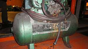 Air Compressor   Speedaire Tank Mounted 2 HP