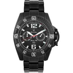 Bulova Marine Star Mens Black PVD Watch