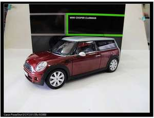 18 Dealer Edition BMW Mini Cooper S Clubman Die Cast RED