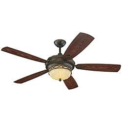 Edwardian 3 light Bronze Indoor/ Outdoor Ceiling Fan
