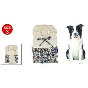 Size 3 Multi layer Embroidered Skirt Dog Cotton Dress