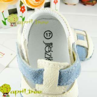 Cow Leather Infant Toddler Baby Boy shoes Sandal soft sold(D81)size