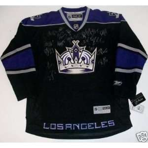 2010 Los Angeles Kings Team Signed Jersey Rbk Coa Sports
