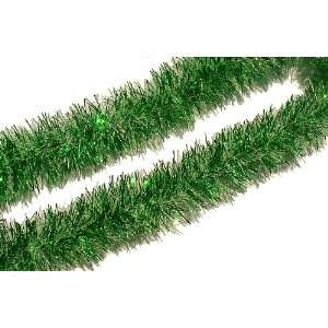 15 Ft. Green and White Frost Christmas Tinsel Garland