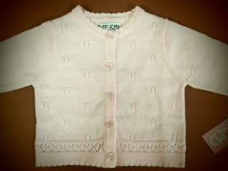 NWT BABY GIRL CARDIGAN SWEATER CK291021 (0 9 months)
