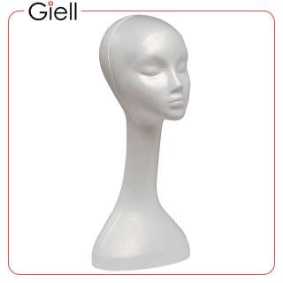 Giell Styrofoam Foam Mannequin Long Neck Wig Head Stand