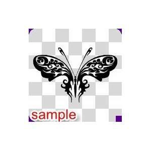 TRIBAL TRIBAL BUTTERFLY 27 10 WHITE VINYL DECAL STICKER