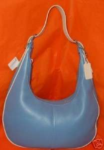 COACH SOFT LEATHER ZOE HOBO TWO TONE NICKEL NEW LARGE