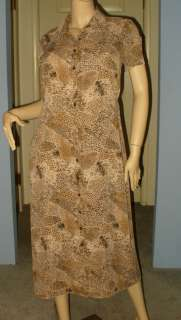SIZE 12P WOMENS SILKY ANIMAL PRINT DRESS, LINED   SAG HARBOR
