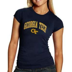 Georgia Tech Yellow Jackets Ladies Navy Blue Arch Graphic