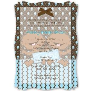 Twin Modern Baby Boys African American   Personalized Vellum Overlay