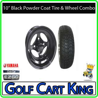 Indy Black Low Profile Golf Cart 10 Wheel & Tire Combo