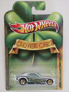 HOT WHEELS 2011 CLOVER CARS DODGE CHALLENGER FUNNY CAR