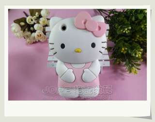 Pink 3D Hello Kitty Lovely Silicone Soft Cover Case for Apple iPhone 3