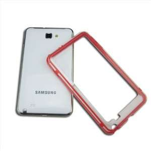 com HK Red TPU PC Bumper Protective Protector Case Frame For Samsung