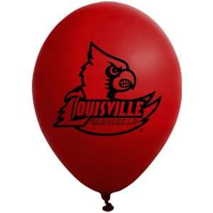 NCAA Louisville Cardinals Red 10 Pack 11 Round Latex