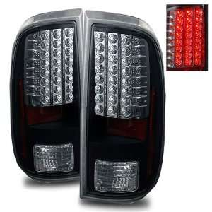 08 11 Ford Super Duty Black LED Tail Lights Automotive