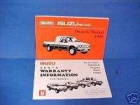 1991 ISUZU PICKUP TRUCK OWNERS MANUAL SERVICE BOOK 91
