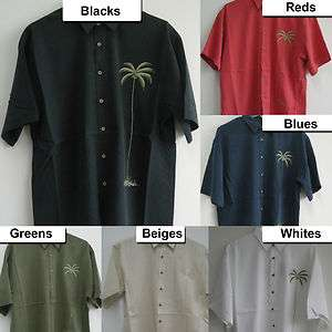 Embroidered Sewn Hawaiian Casual Tropical Shirts Button resortwear