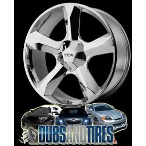 22 Inch 22x9.5 KMC wheels CLONE Chrome wheels rims