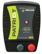 PATRIOT PMX200 ELECTRIC FENCE CHARGER ENERGIZER, 45MILE/110ACRE 110V