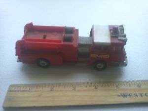 TOY RED FIRE TRUCK MACK C.F. FIRE CHIEF