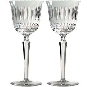Katya Mouth Blown Crystal Wine Goblet Set/2  Kitchen