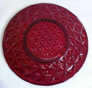 Imperial Mt Vernon Ruby Red Glass Plate 8 Inch Salad/Luncheon