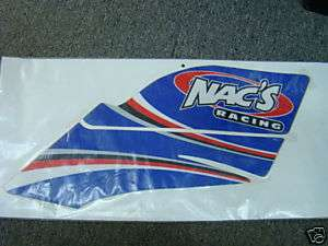 Nacs Racing atv graphics kit YFZ450 yfz blue nacs