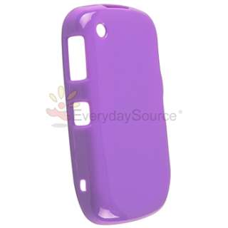 Purple Rubber TPU Soft Gel Cover Case for Blackberry Curve 8520 8530