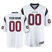 Nike Houston Texans Youth Customized Game White Jersey