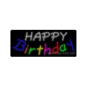 Happy Birthday LED Sign 11 x 27