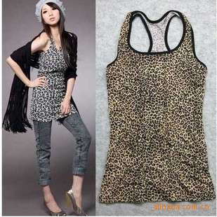 Fashion Women/Girls Leopard tank top/SleevelessTshirt