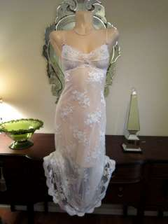 NWT Nightgown Gown CLAIRE PETTIBONE Bride Lace  Couture