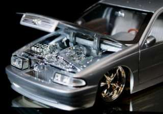 1996 Chevrolet Impala SS DUB CITY Diecast 124 Scale   Silver wFlame