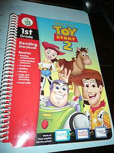 Leap Frog Pad BOOK ONLY Toy Story 2 Reading 1st Grade 1 Quantum Plus