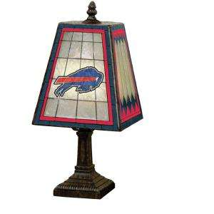 The Memory Company NFL 14 Inch Art Glass Table Lamp   Buffalo Bills
