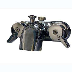 Pegasus Lever 2 Handle Claw Foot Tub Faucet in Polished Chrome 205 S