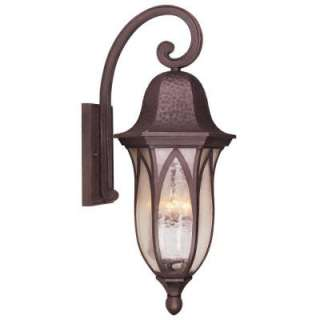 Hampton Bay Wall Mount 4 Light Outdoor Bronze Lantern HD257212 at The