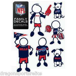 NFL FAMILY DECAL STICKER SET (6 Pack) Father, Mother, Daughter, Son