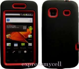 Screen +BLACK RED Impact Armor Case Cover Straight Talk SAMSUNG GALAXY