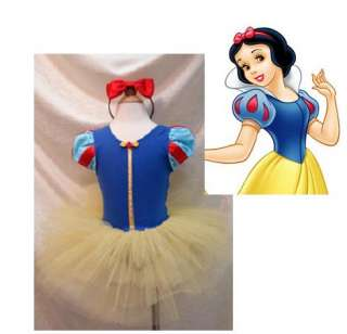 NWT Disney Snow White Princess Costume Dresses Leotard