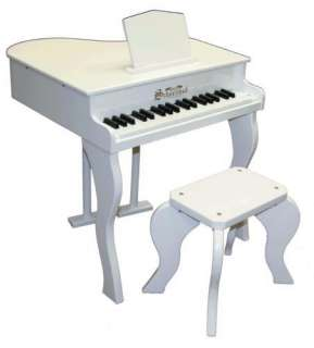New Schoenhut Kids 37 Key Elite Baby Grand Piano White